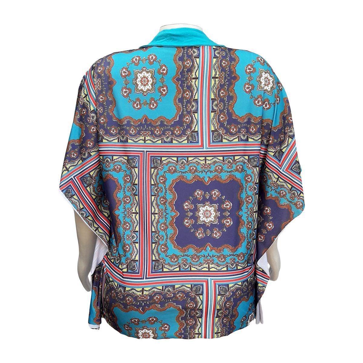 Blusa Kaftan Plus Size