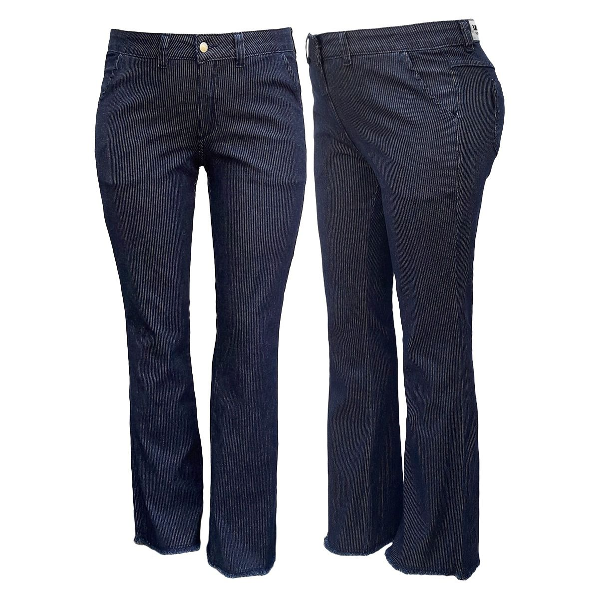 Calça Jeans Feminina Boot Cut Plus Size