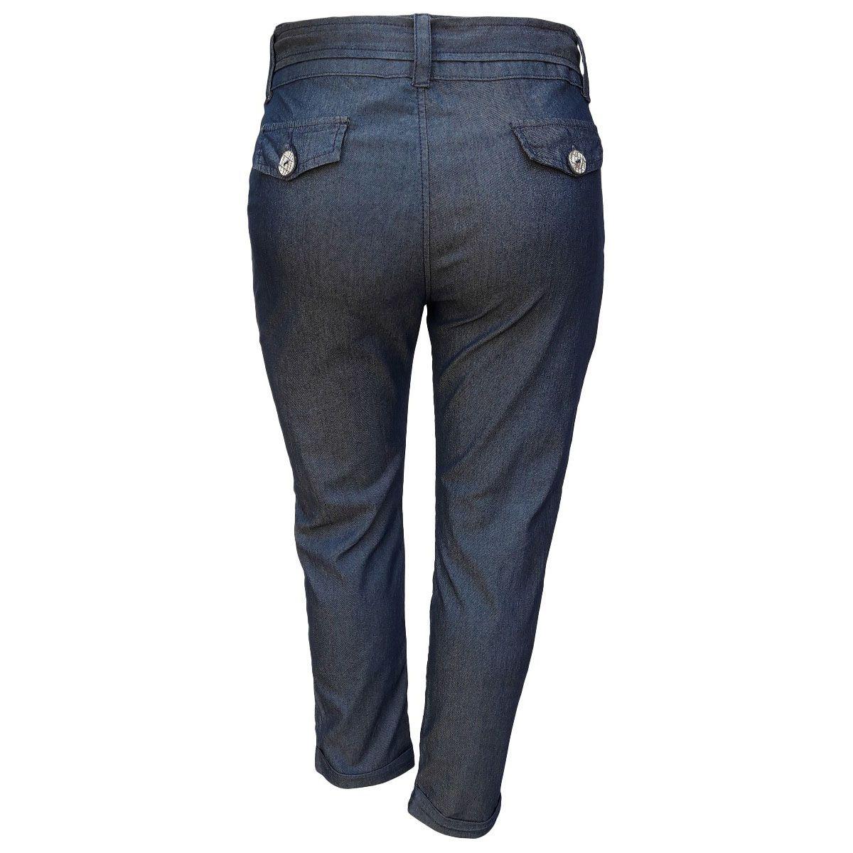 Calça Jeans Feminina Clochard Cintura Alta