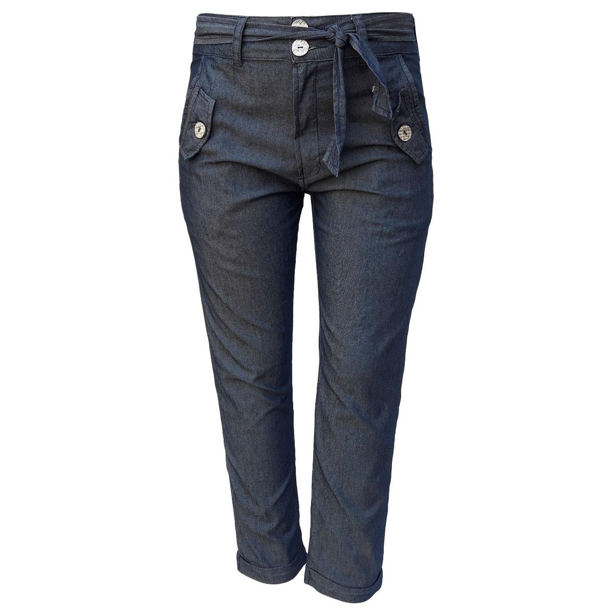 Calça Jeans Feminina Clochard Cintura Alta Tamanho P