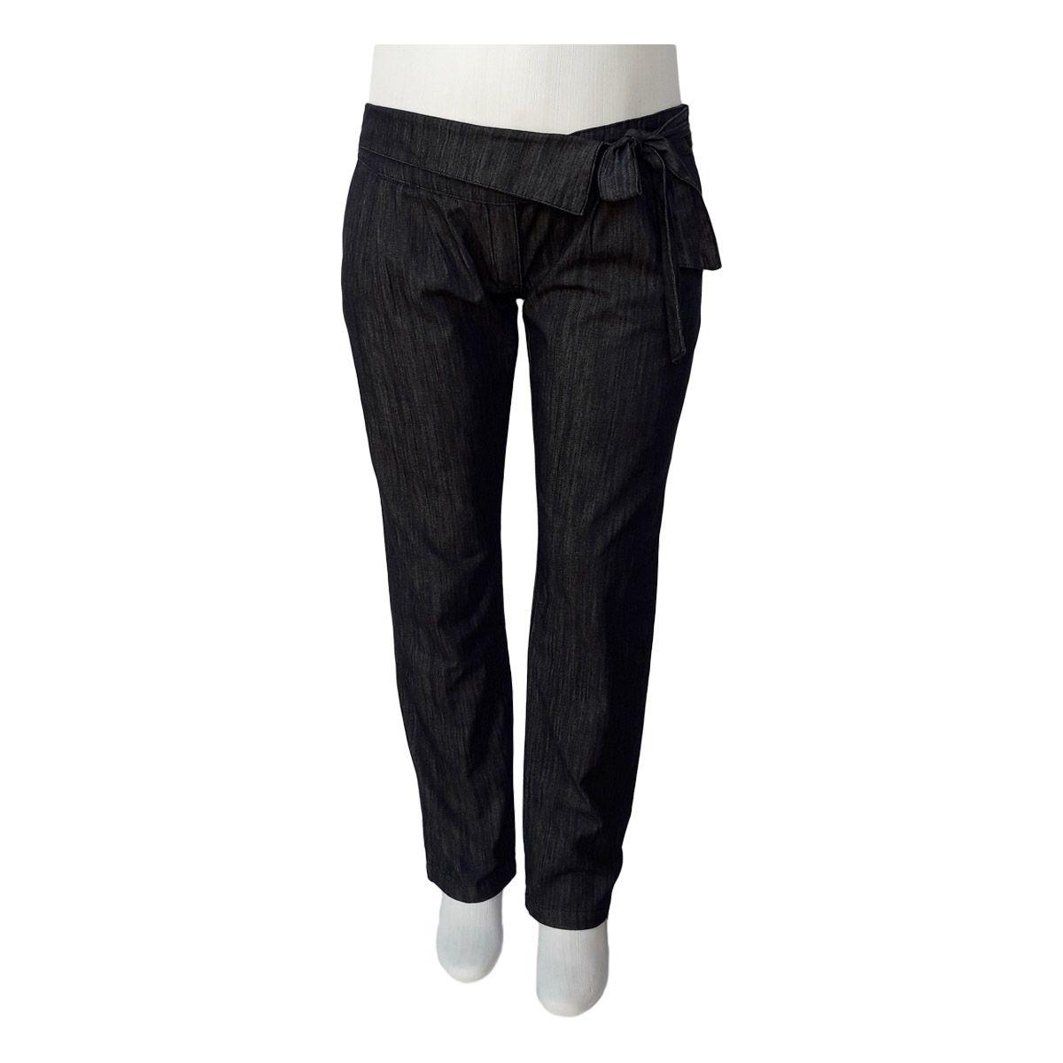 Calça Jeans Feminina Clochard Cintura Baixa