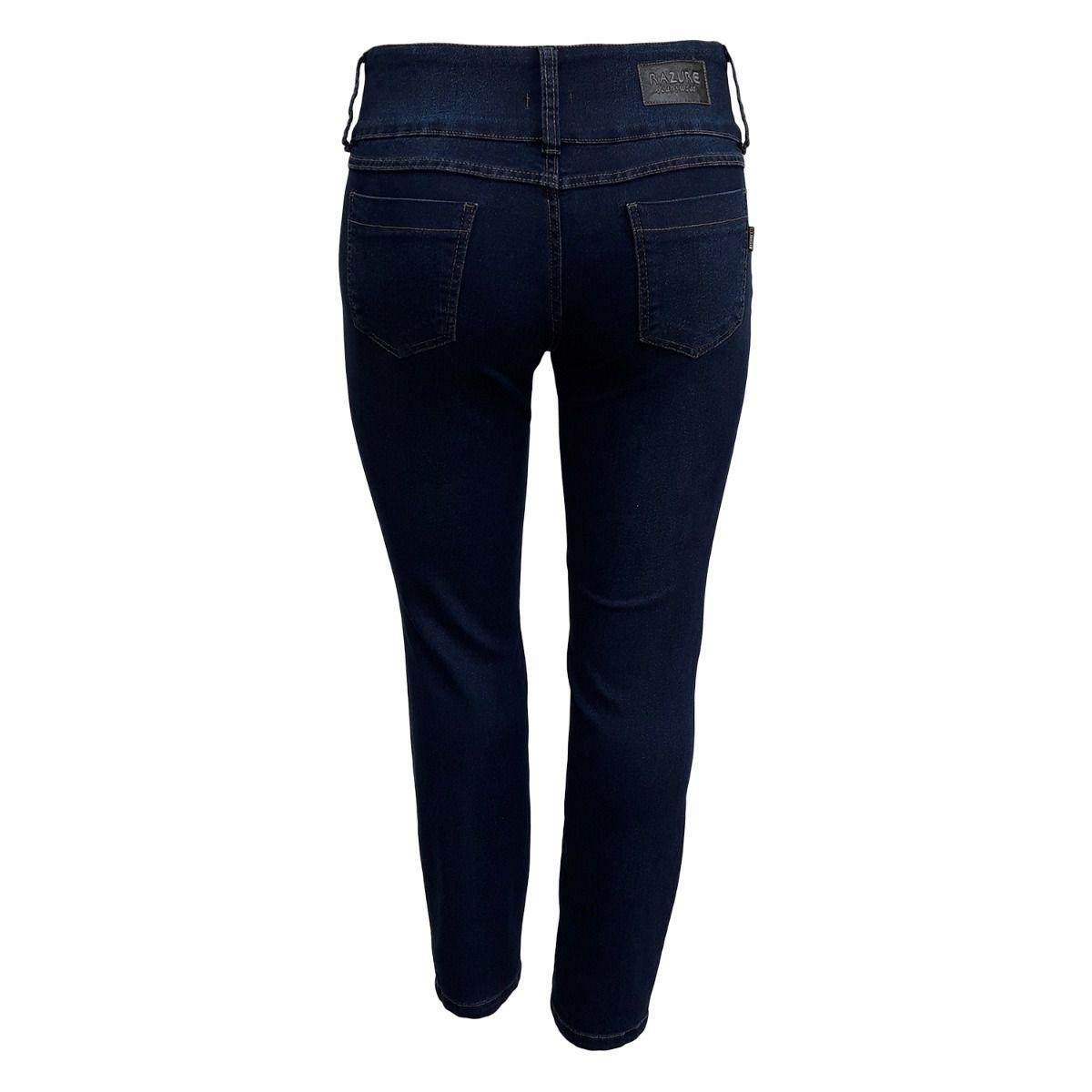 Calça Jeans Feminina Cós Largo Plus Size