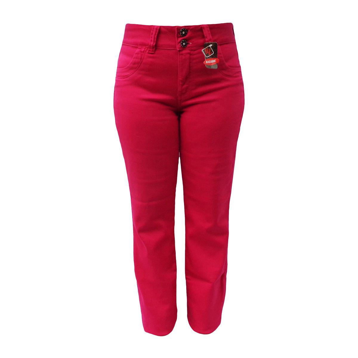 Calça Jeans Feminina Malha Denim Cintura Alta Tam. 40 E 44