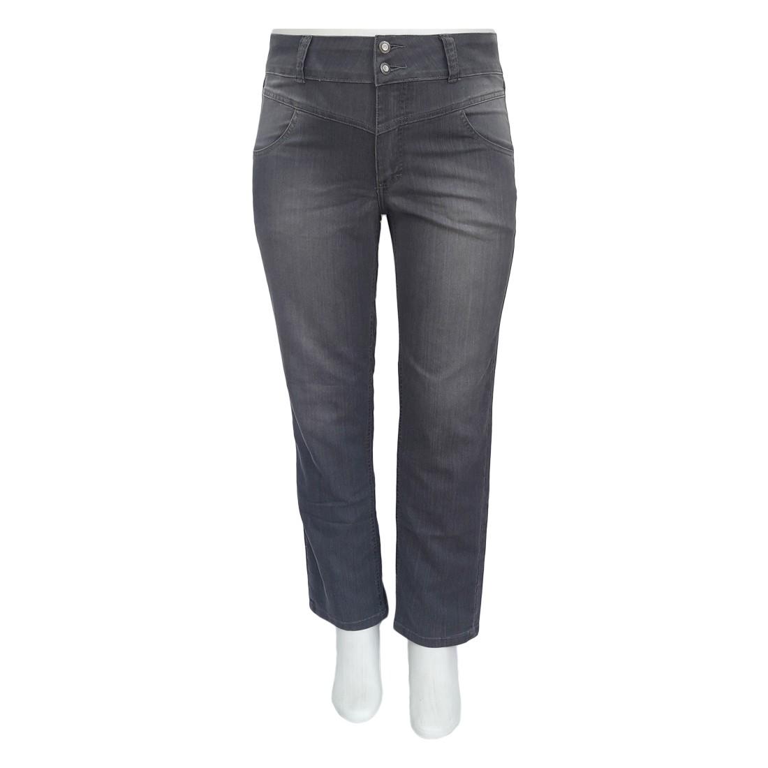 Calça Jeans Feminina Plus Size Cintura Alta Ref 01