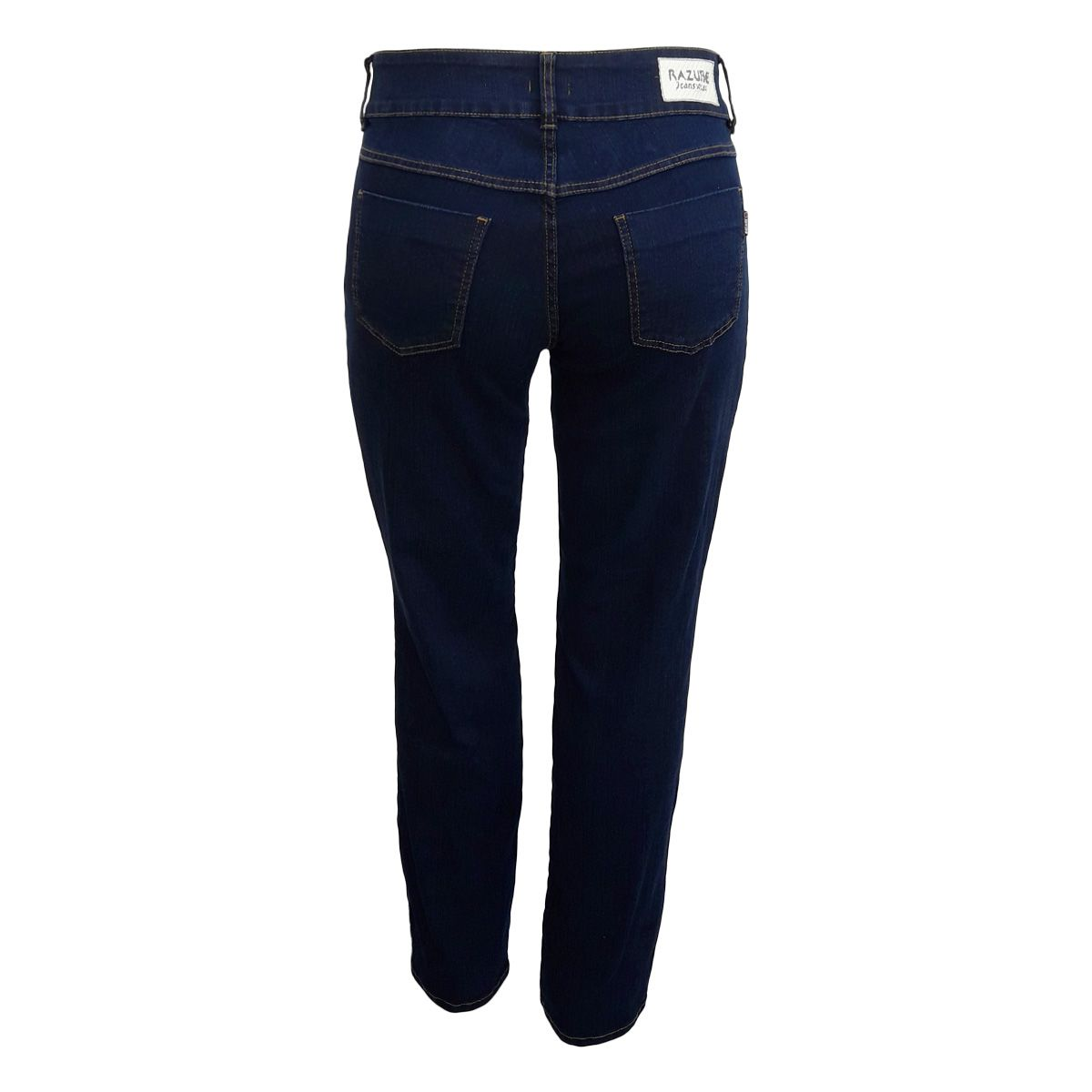 Calça Jeans Feminina Reta Plus Size