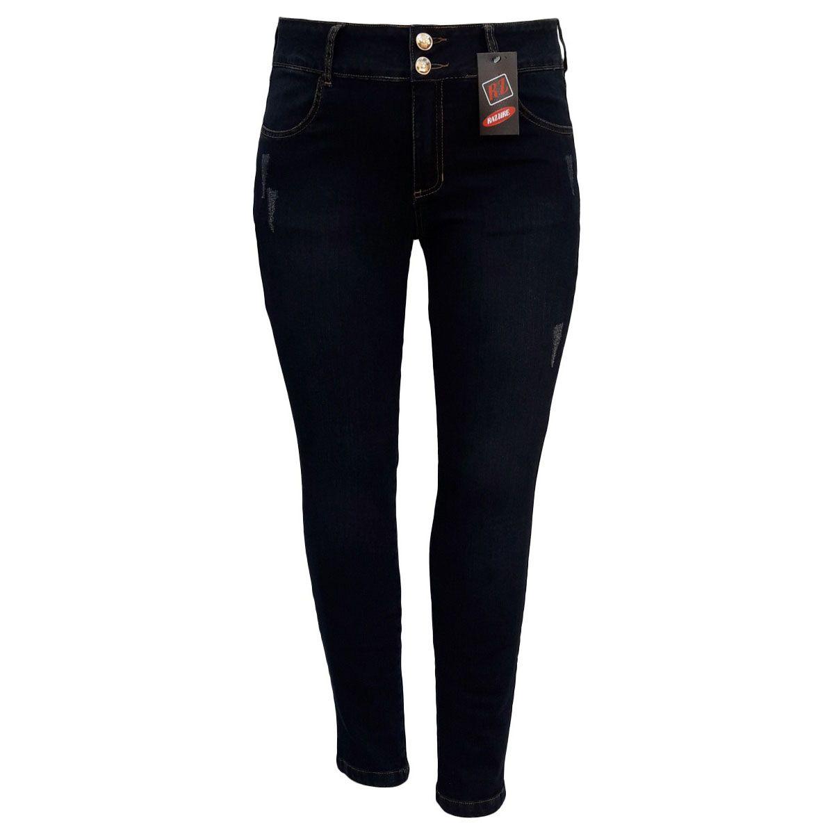 Calça Jeans Feminina Skinny Plus Size