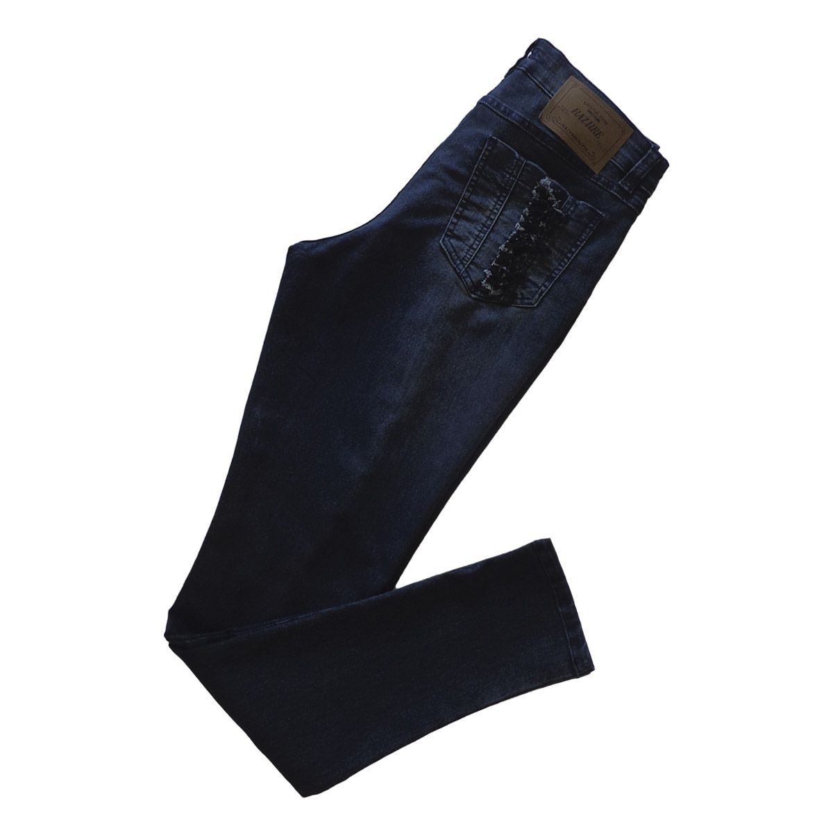 Calça Jeans Feminina Skinny Rasgada Plus Size Tamanho 46