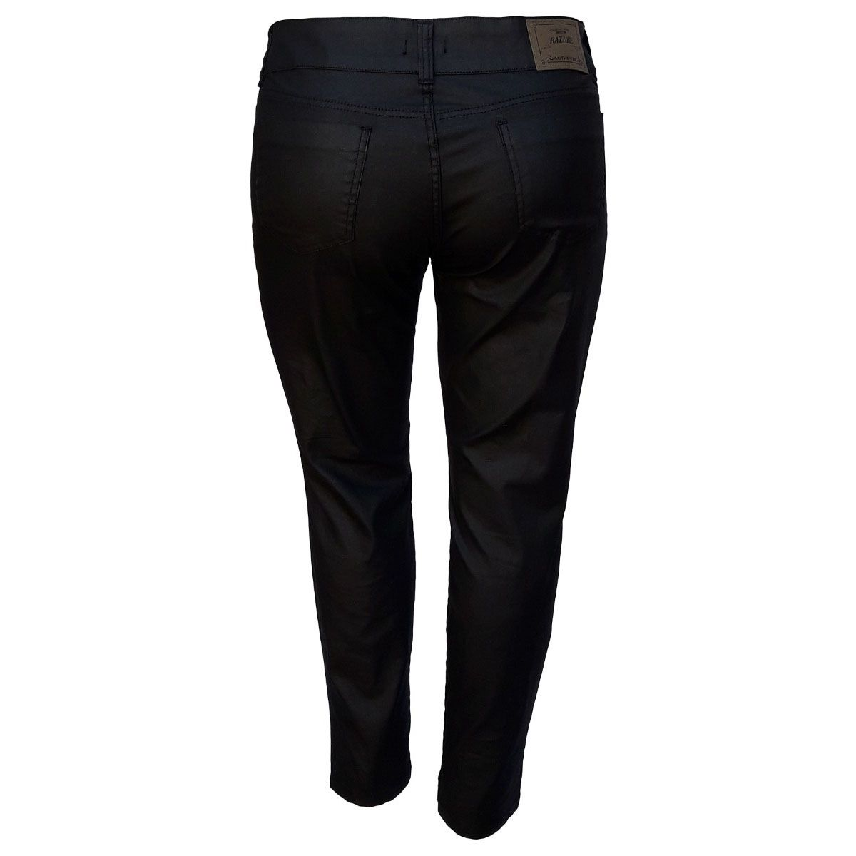 Calça Jeans Feminina Skinny Resinada Plus Size
