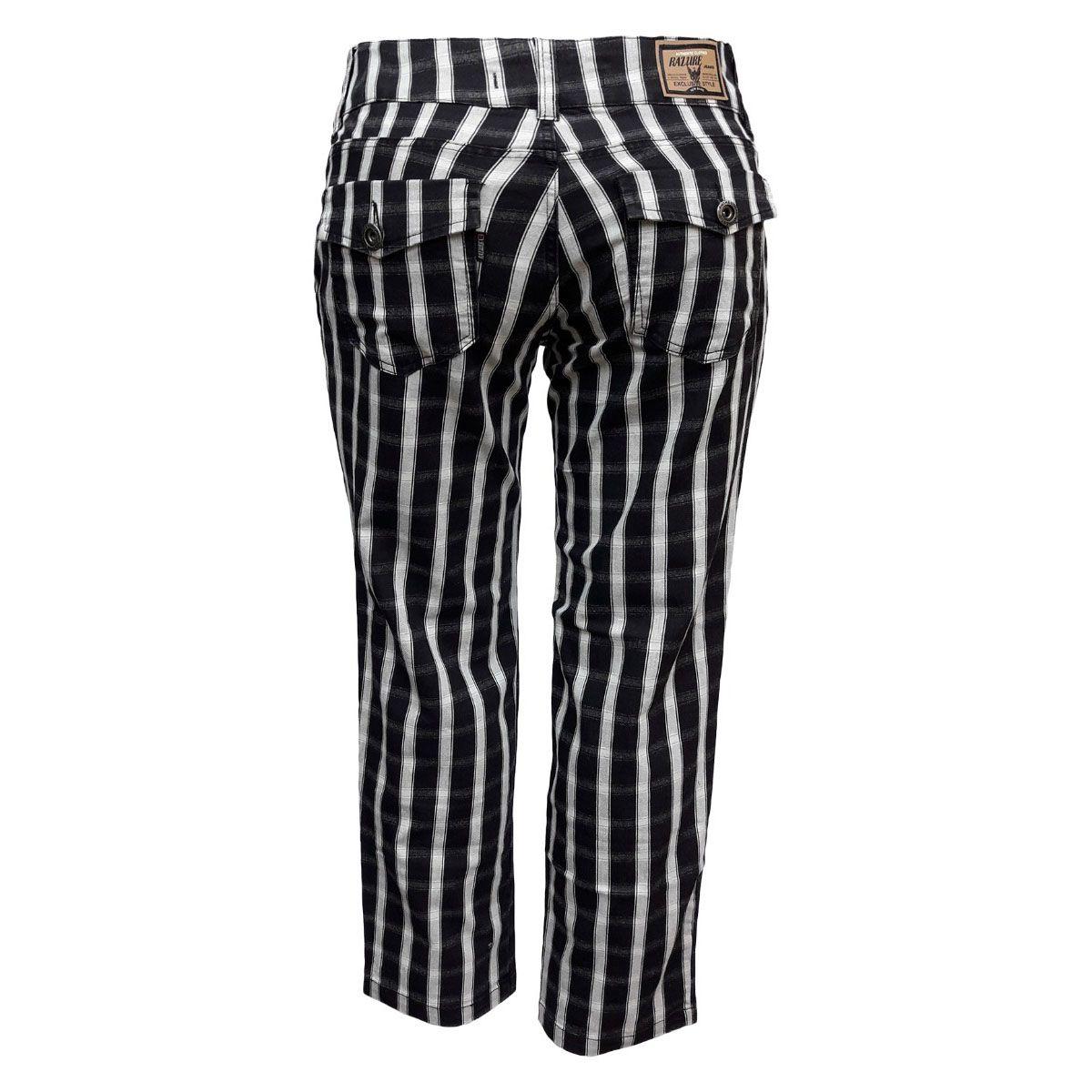 Calça Jeans Feminina Xadrez Cintura Baixa