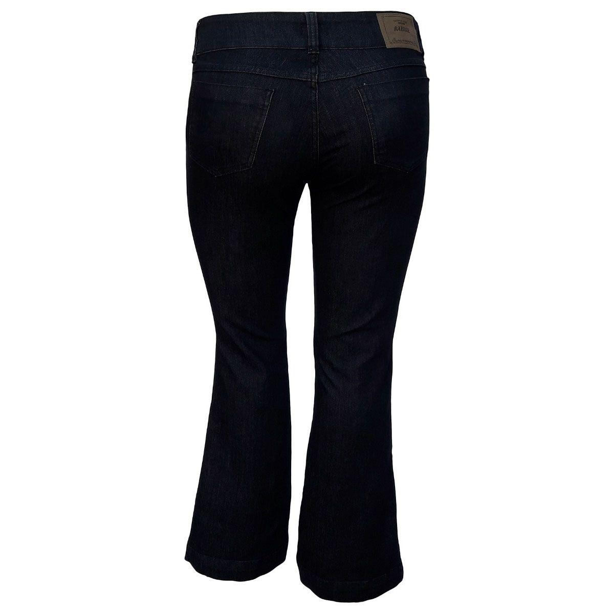 Calça Jeans Flare C/ Fenda Lateral Plus Size
