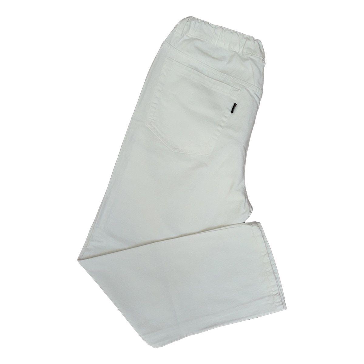 Calça Jeans Masculina Branca C Elástico Plus Size Tamanho 52