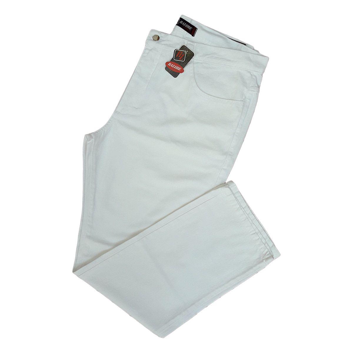 Calça Jeans Masculina Branca - Tamanhos 38 Ao 54