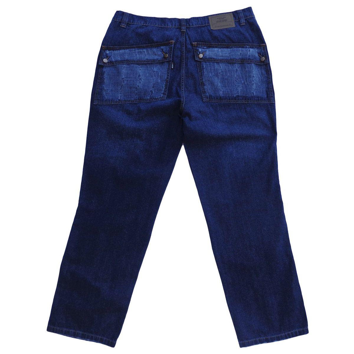 Calça Jeans Masculina Cargo Plus Size