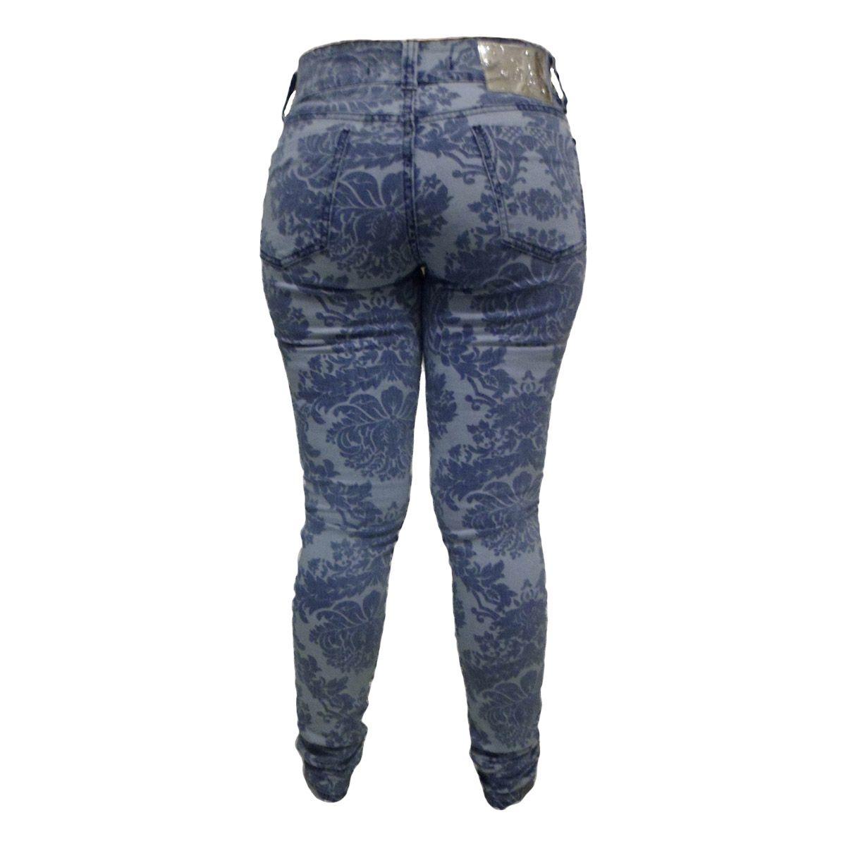 Calça Jeans Super Skinny Estampada Tamanhos 38 E 40