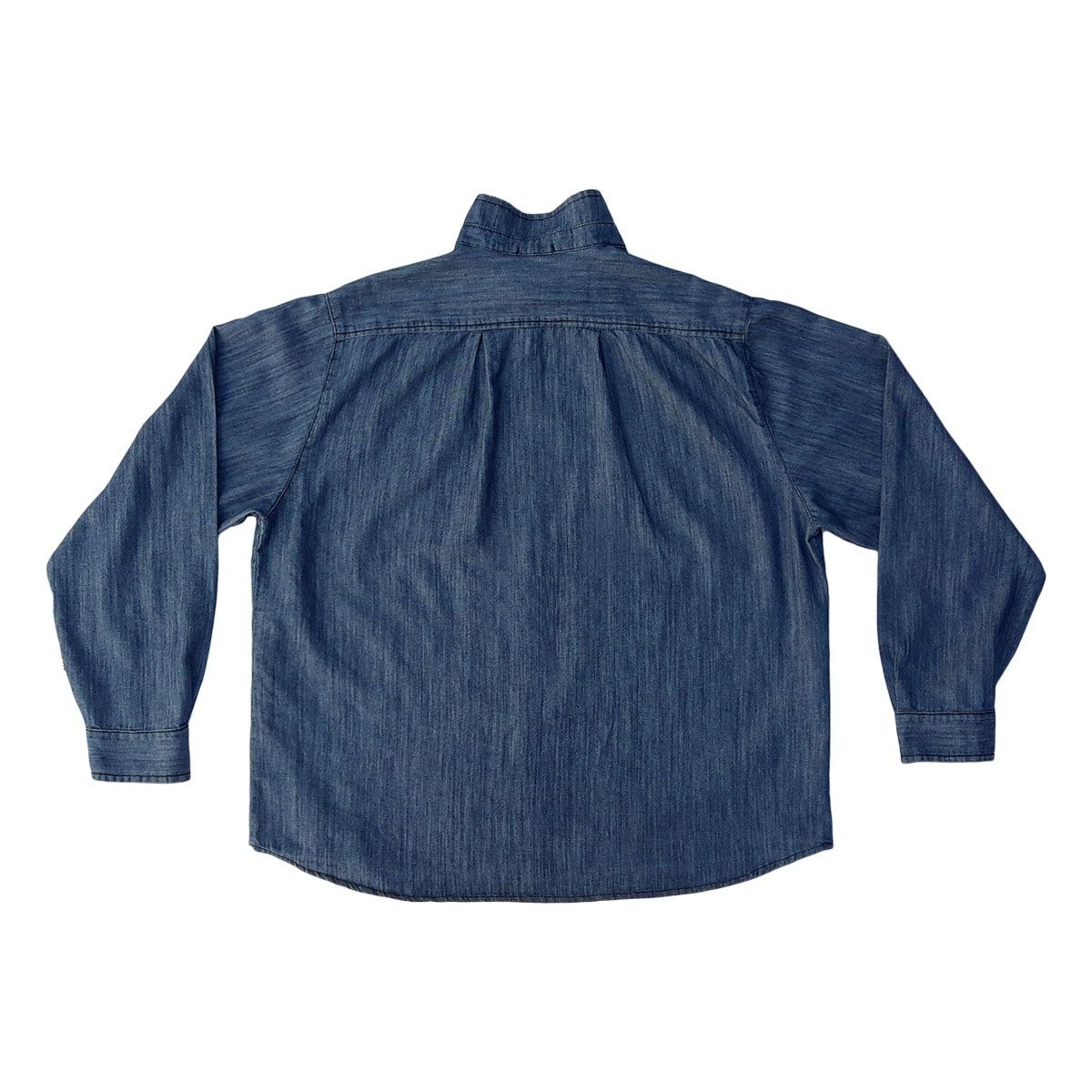 Camisa Jeans Masculina Manga Longa Plus Size