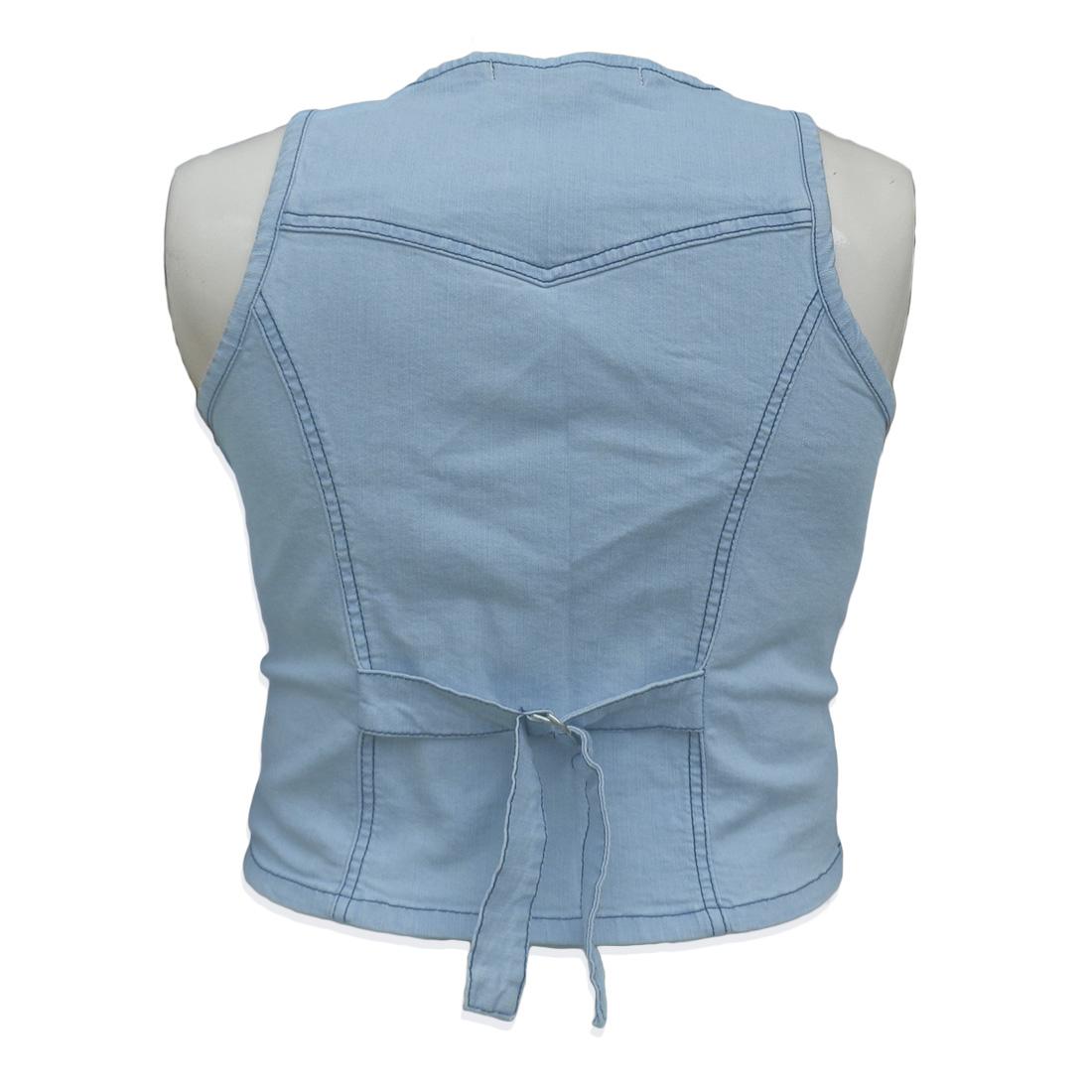 Colete Jeans Feminino Cropped Plus Size