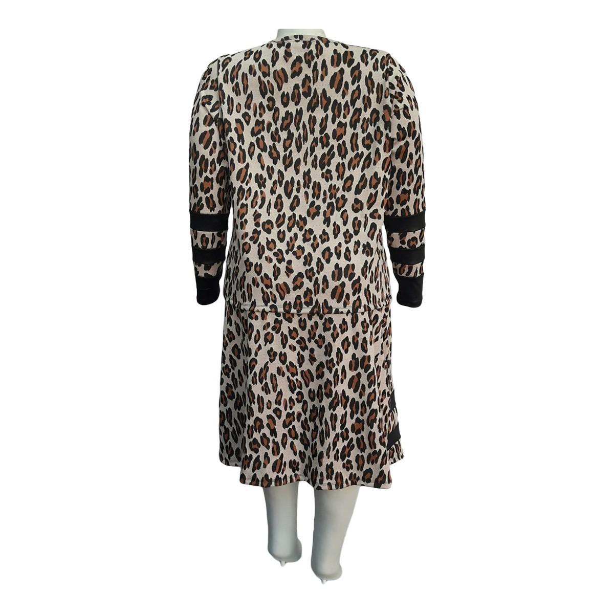 Conjunto Blusa e Saia Jacquard Plus Size Moda Evangélica