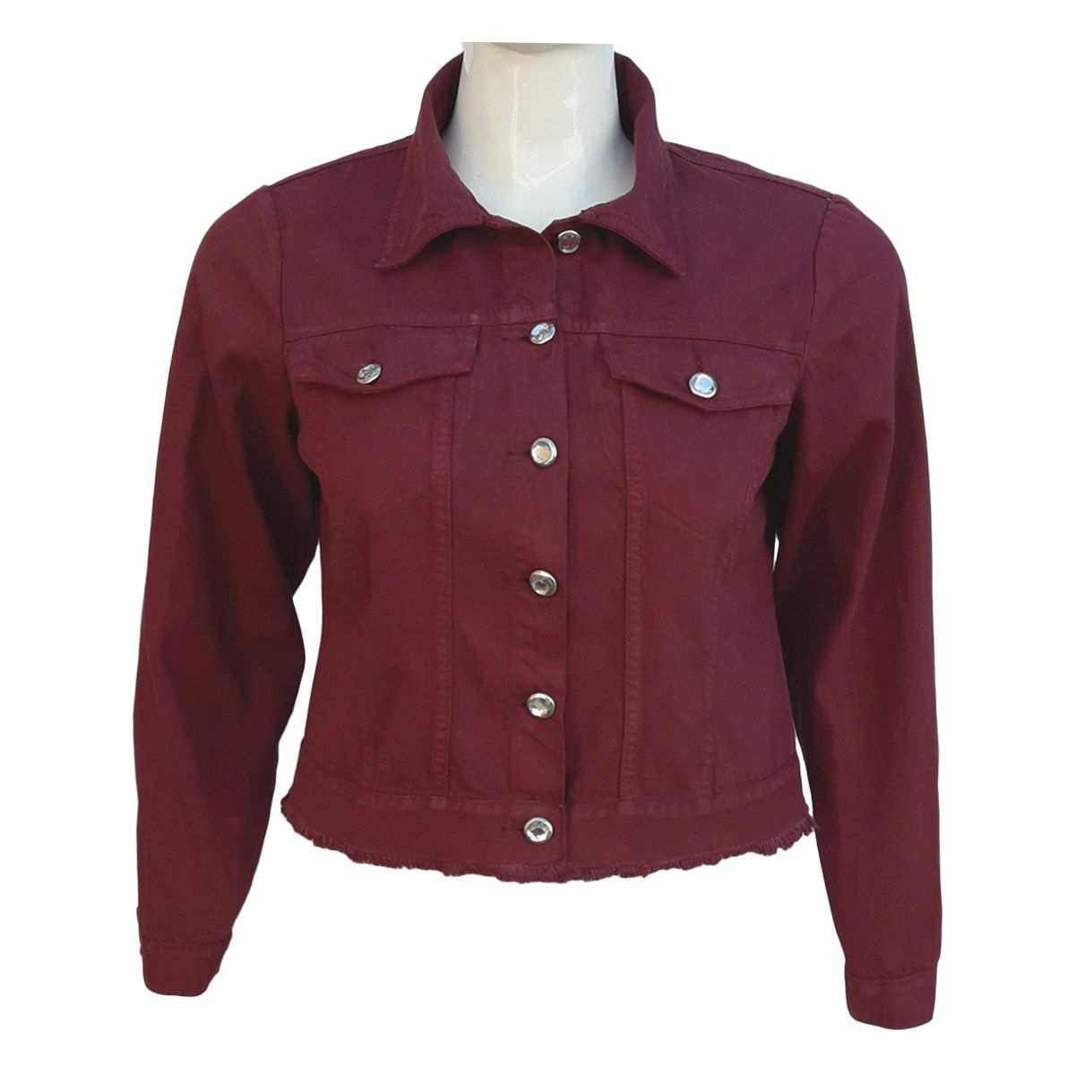 jaqueta jeans feminina color plus size