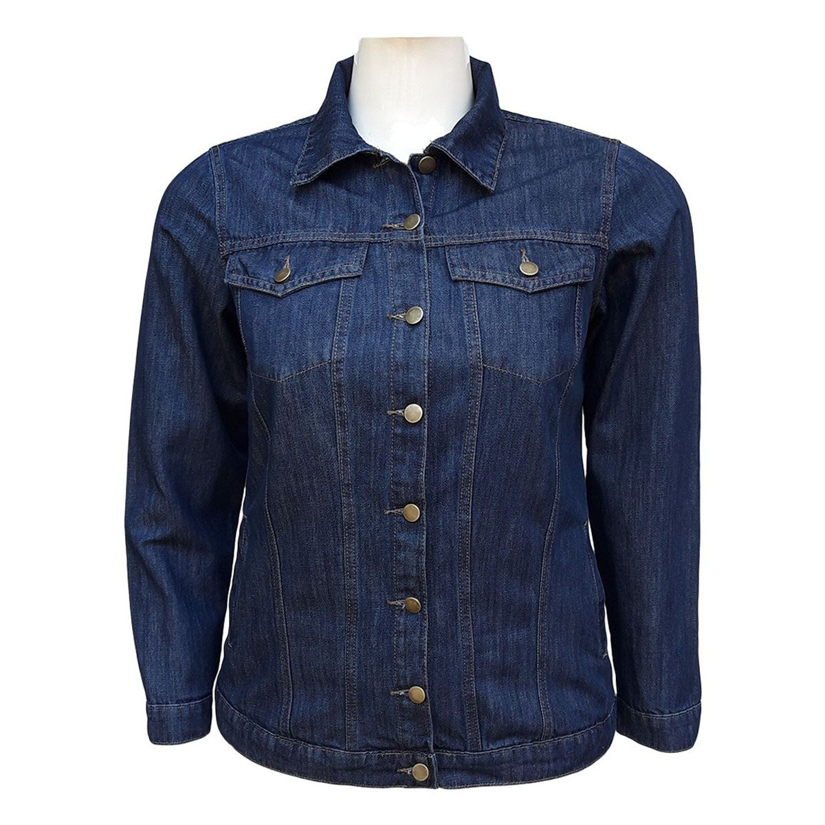 Jaqueta Jeans Feminina Oversized Plus Size