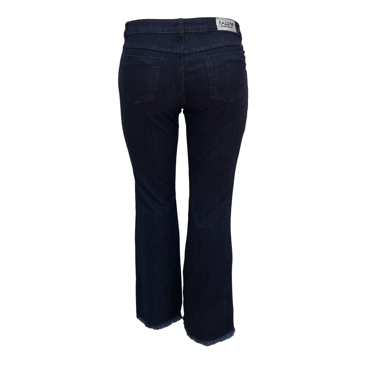 Kit 02 Calças Jeans Femininas Cigarrete e Boot Cut Plus Size 48