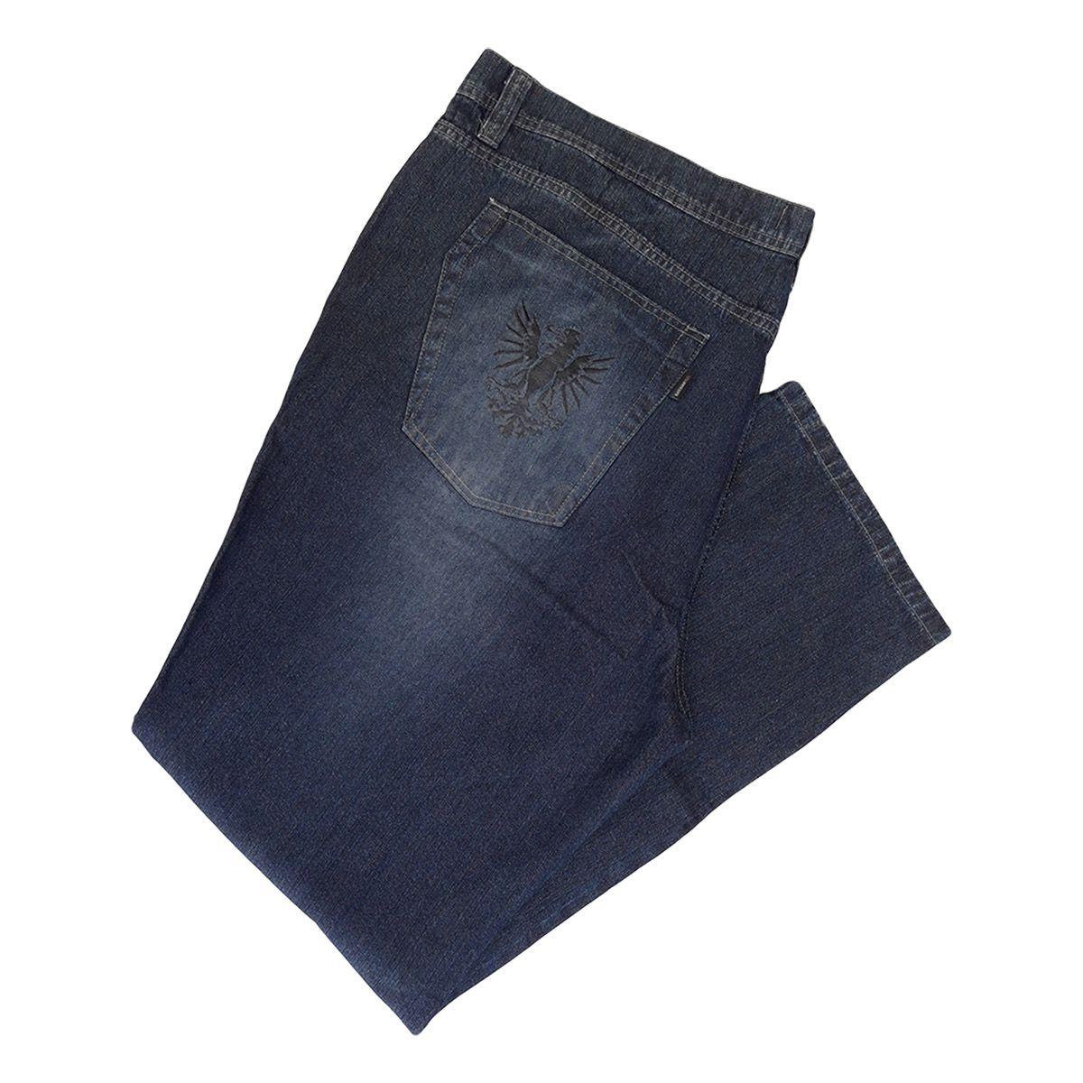 Kit C/ 02 Calças Jeans Masculinas Plus Size Tamanho 60