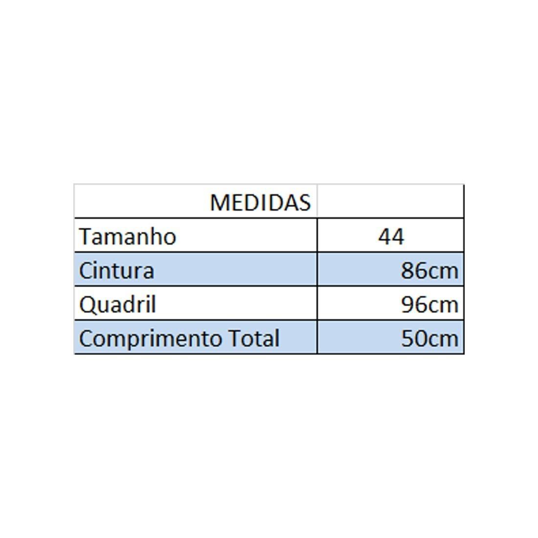 Kit c/ 2 Bermudas Jeans Fem Plus Size Cintura Alta Tam 44