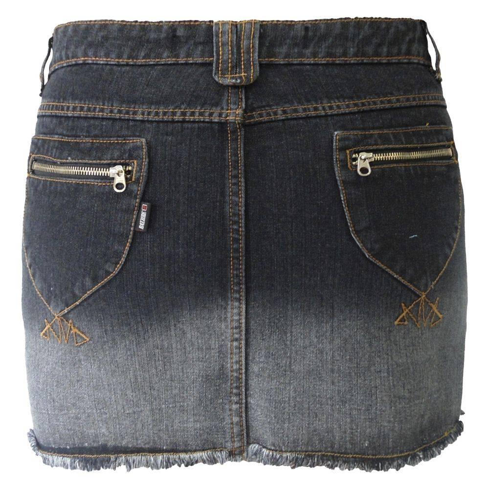 Mini Saia Jeans Preto Degradê