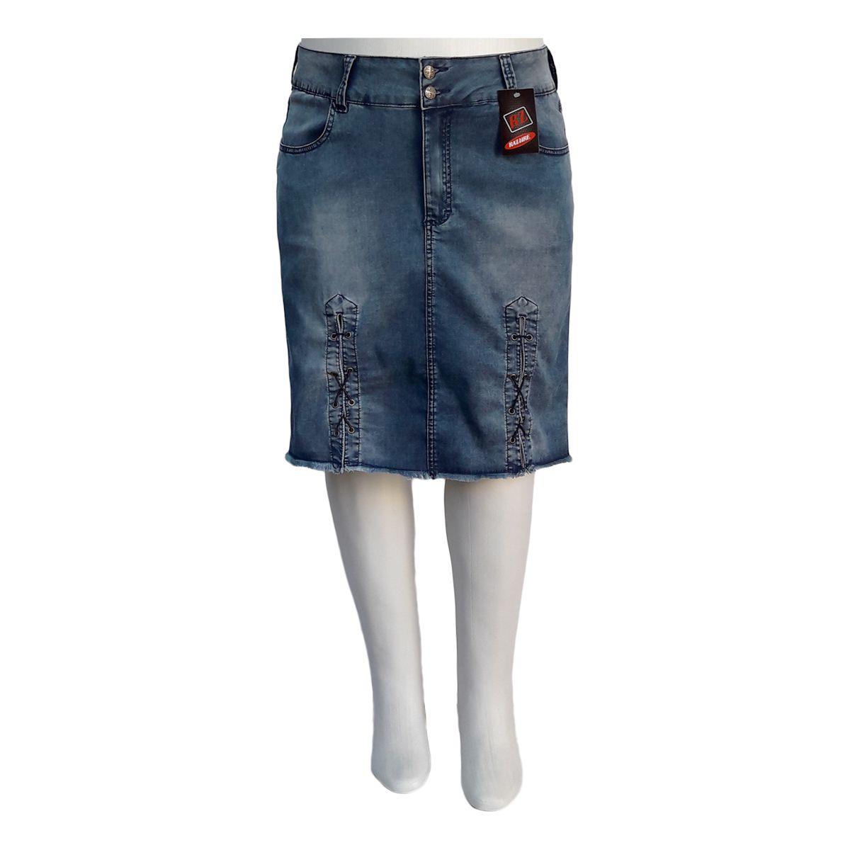 Saia Jeans Evangélica E Executiva Plus Size Mod. 2
