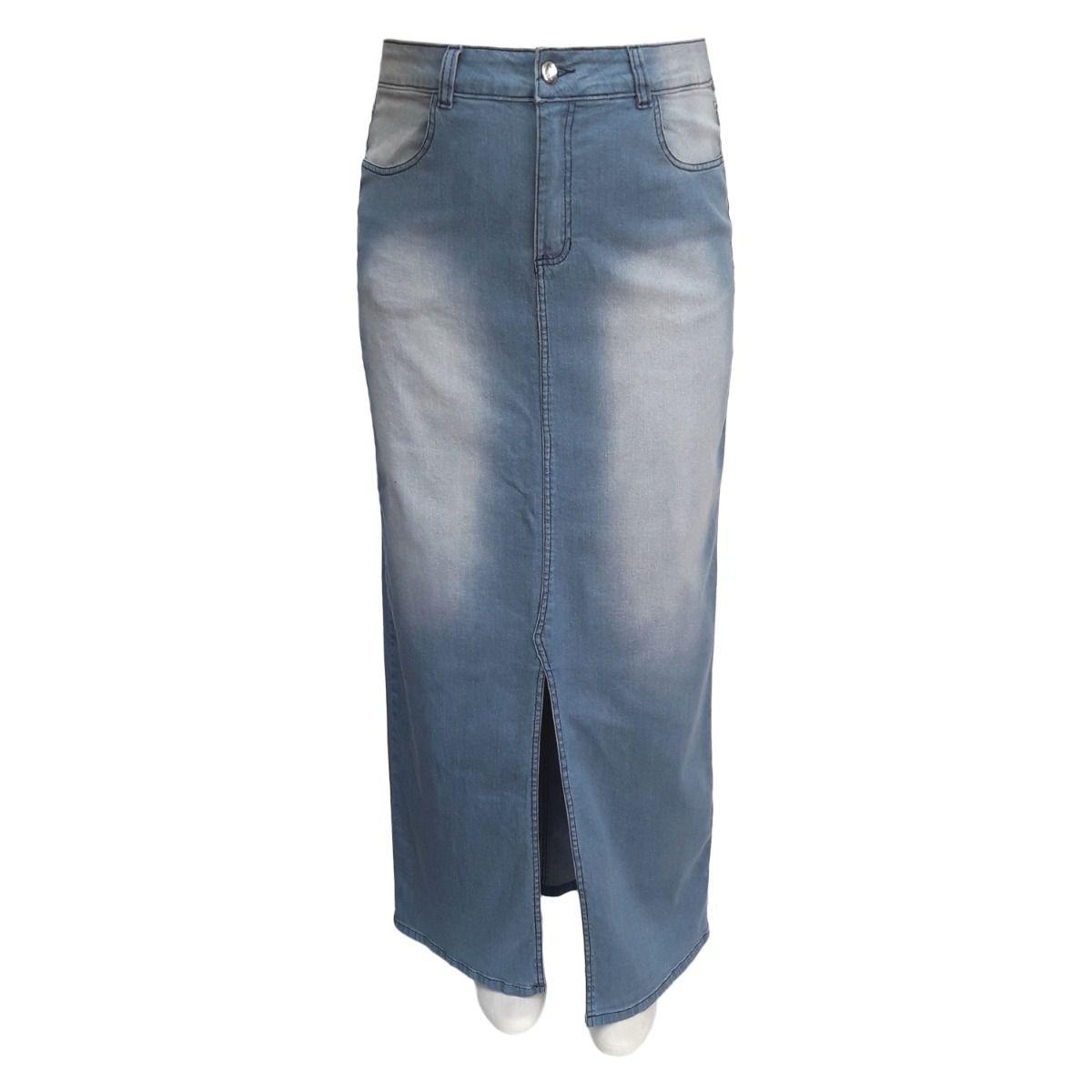 Saia Jeans Evangélica Longa Plus Size