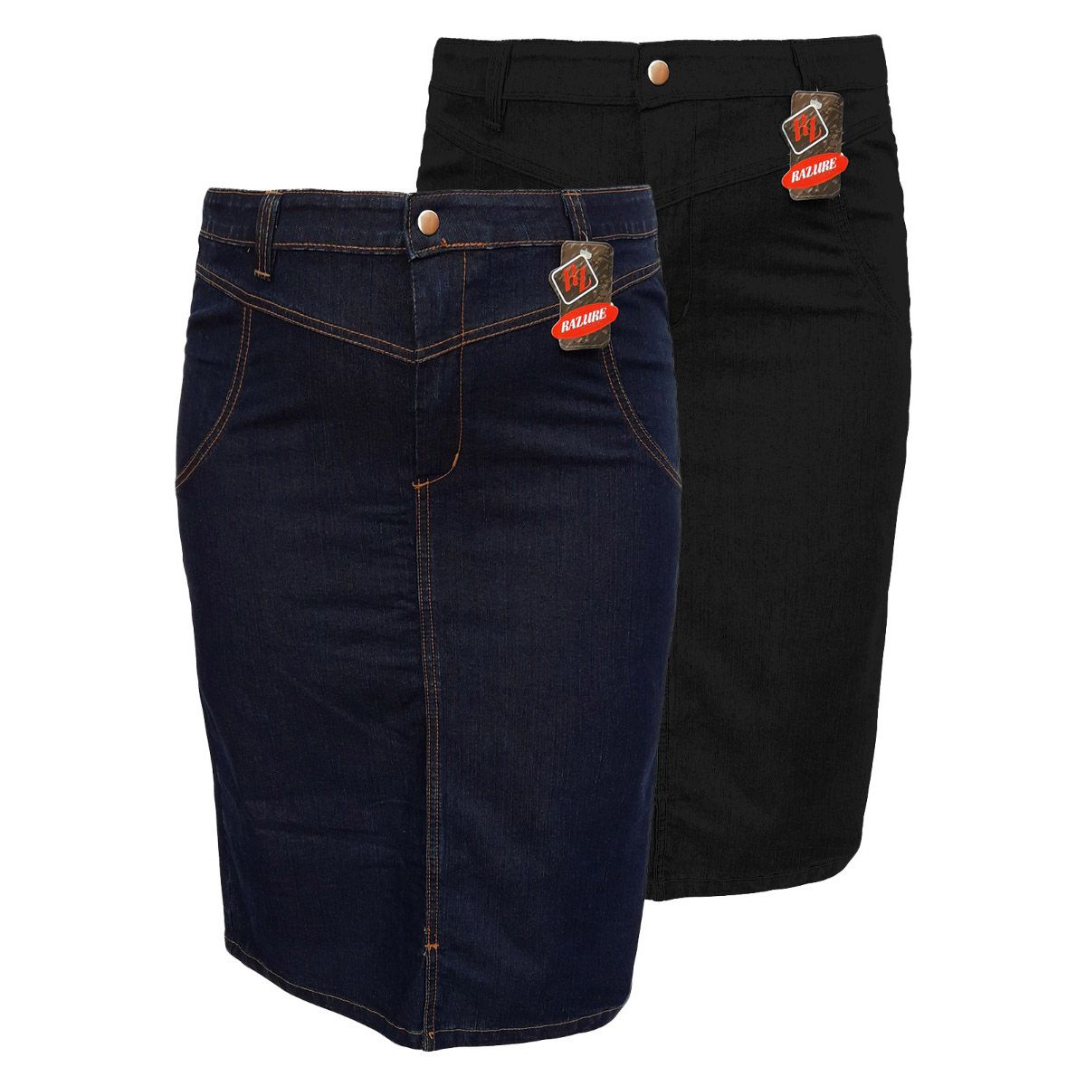 Saia Jeans Evangélica Plus Size