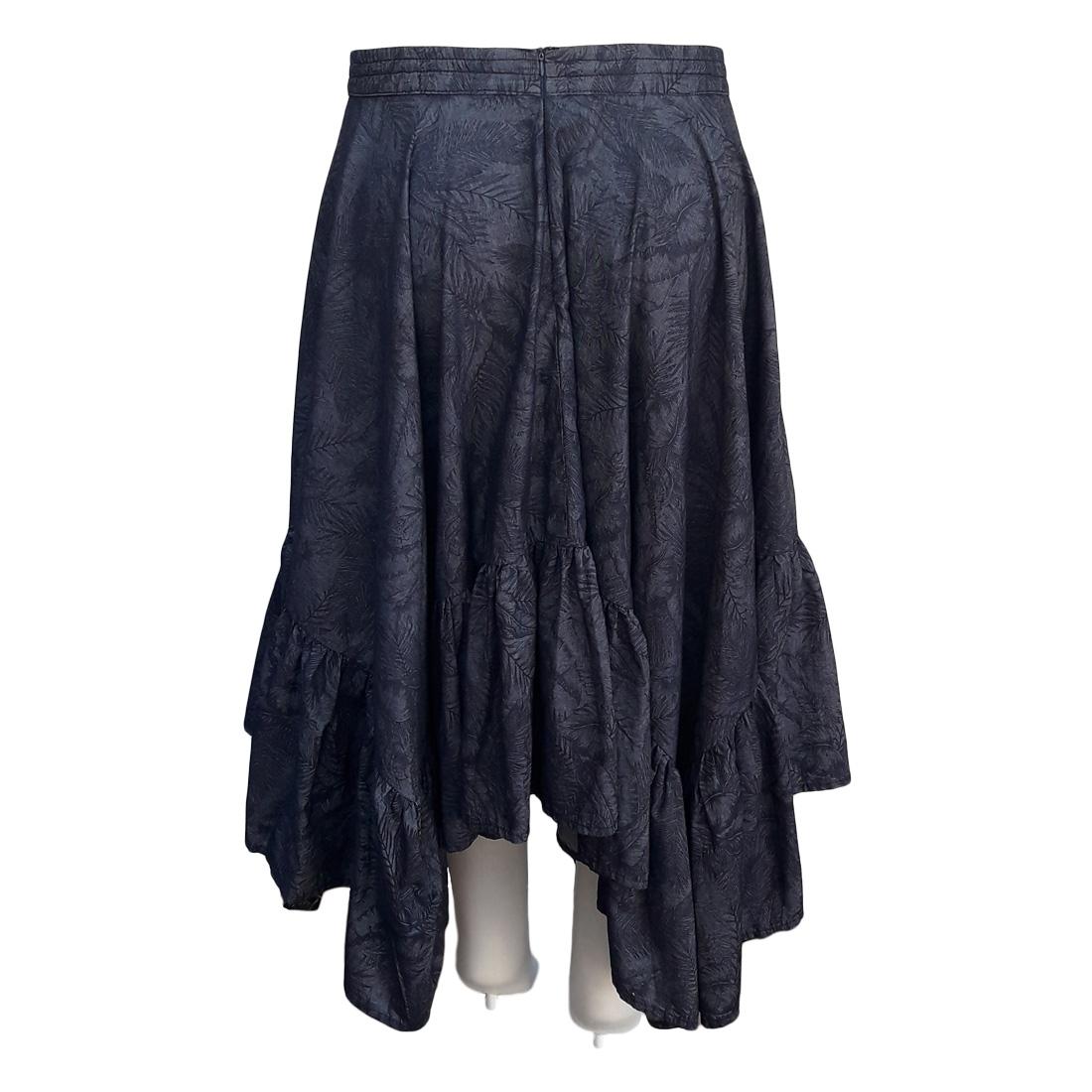 Saia Jeans Godê Assimétrica Moda Evangélica Plus Size