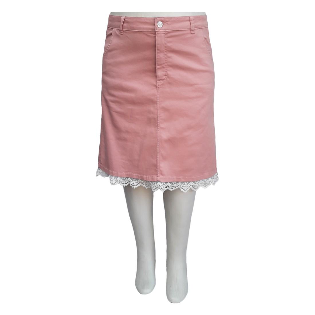 Saia Jeans Moda Evangélica Color Plus Size