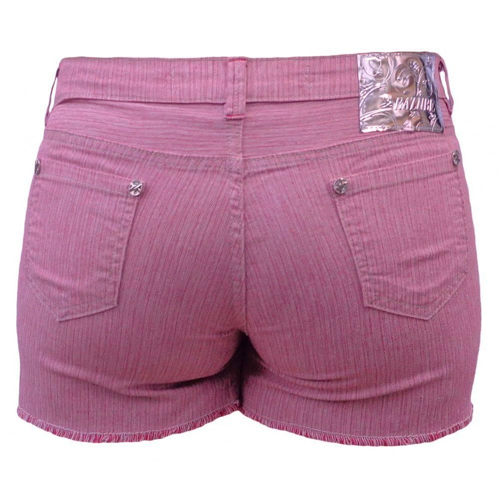 Short Feminino De Sarja Plus Size