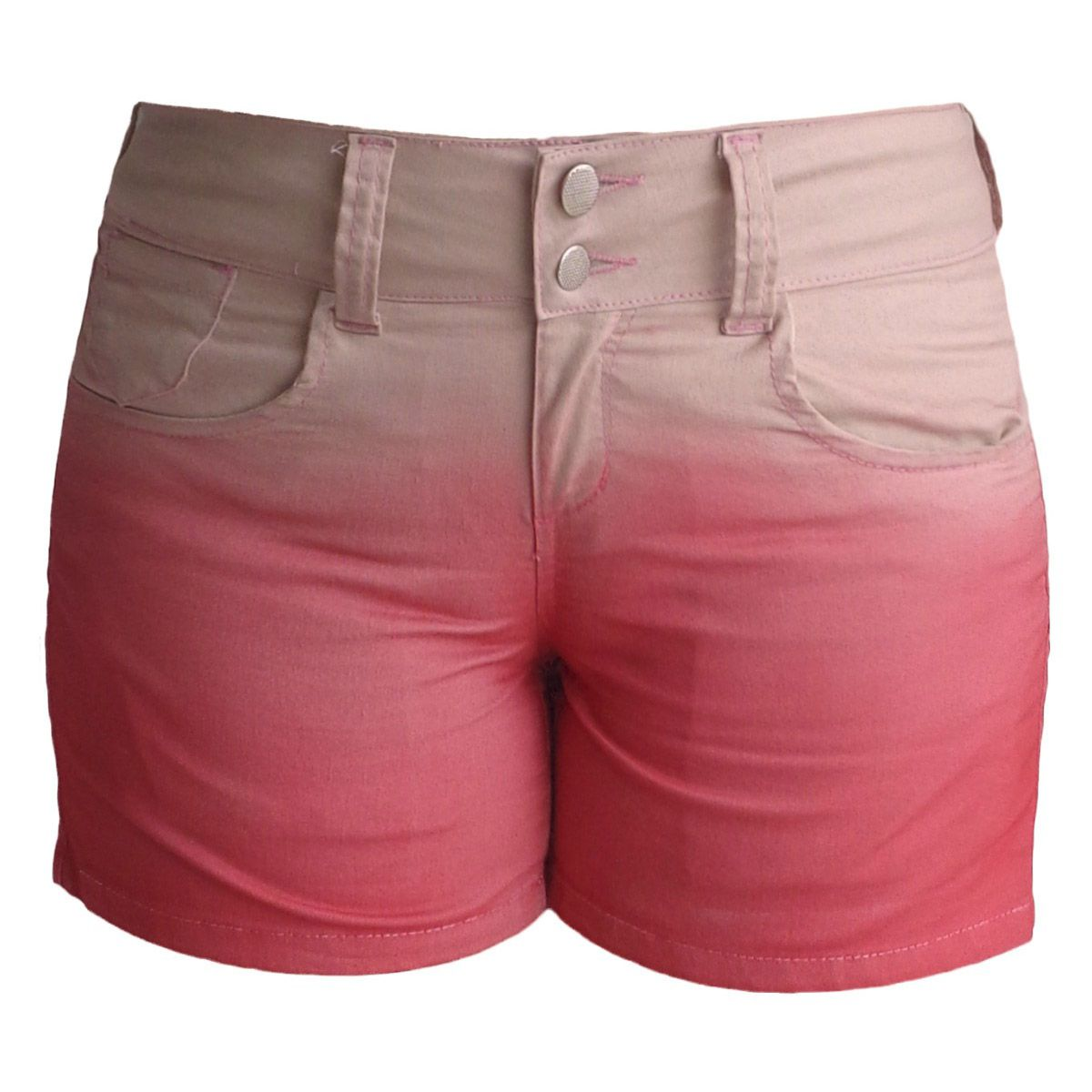 Short Feminino Sarja Coral Degradê