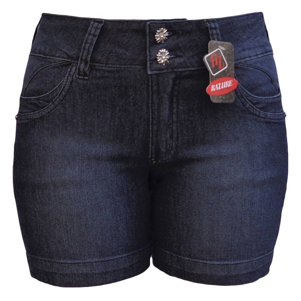 Short Jeans Brikis Preto Plus Size