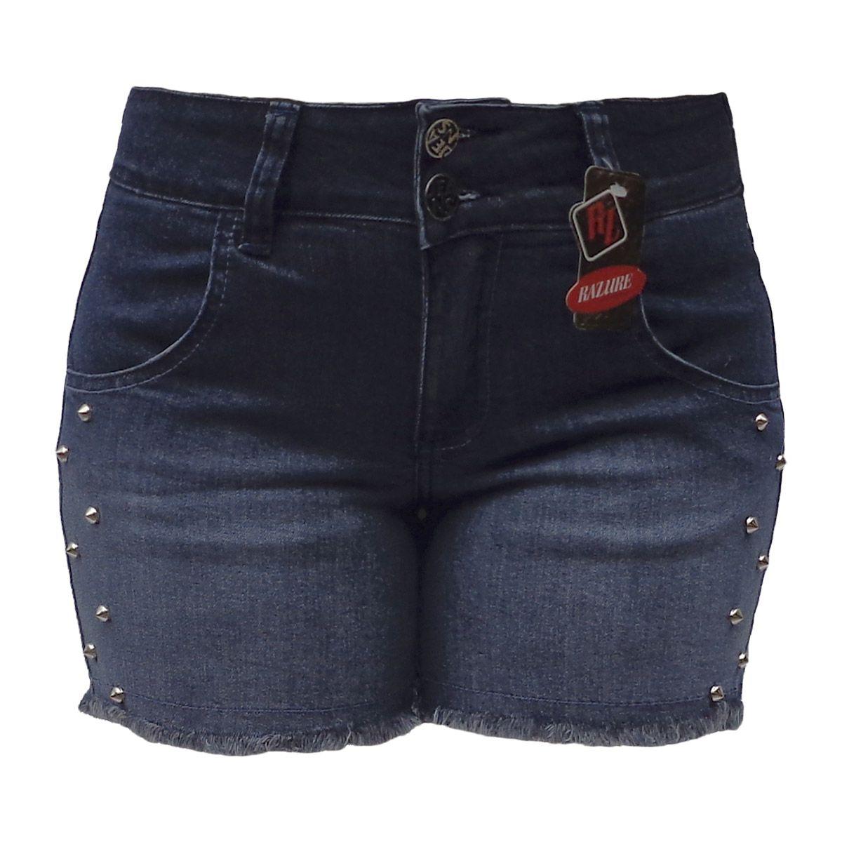 Short Jeans Degradê Com Spike Tamanho 38