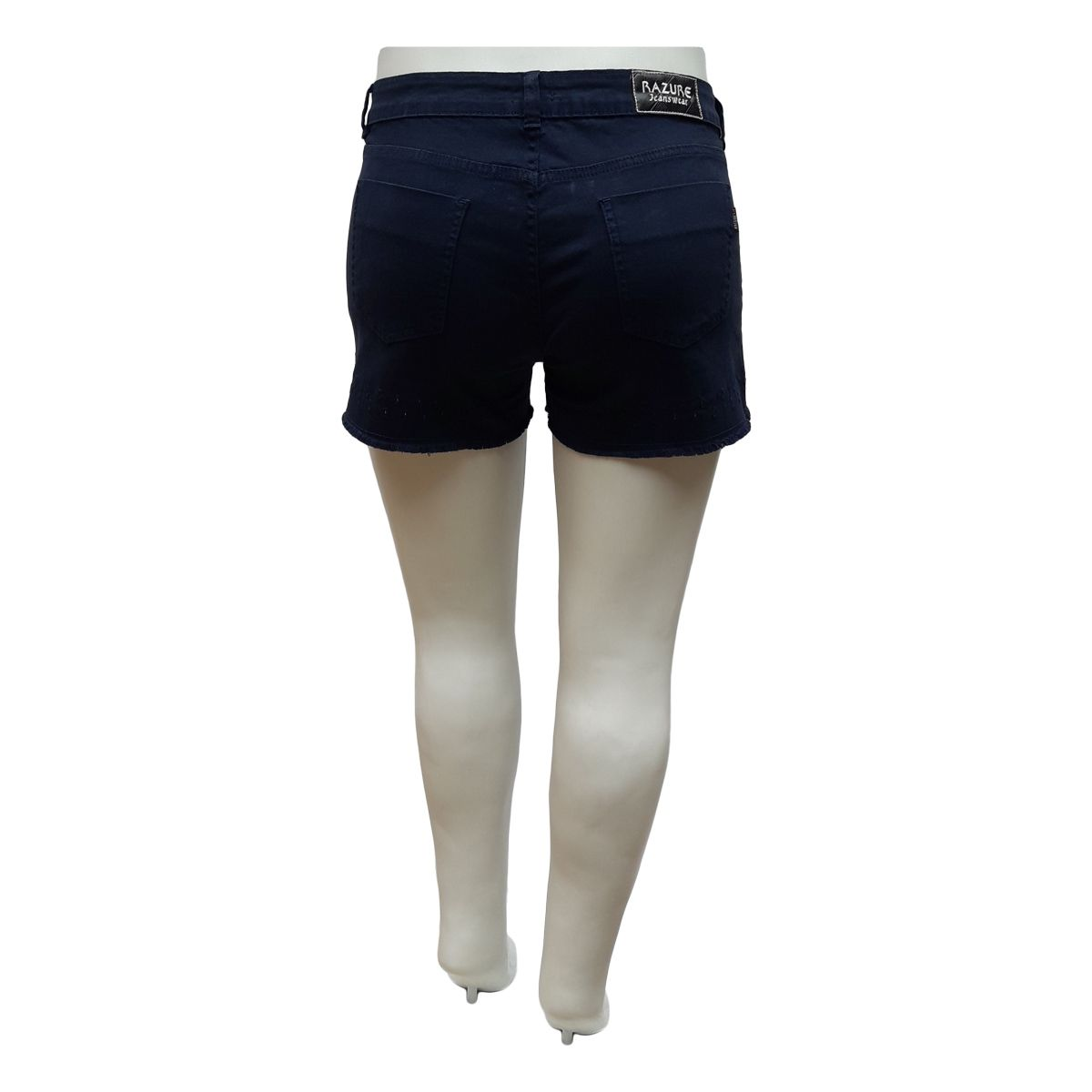 Short Jeans Feminino Color Curto Plus Size