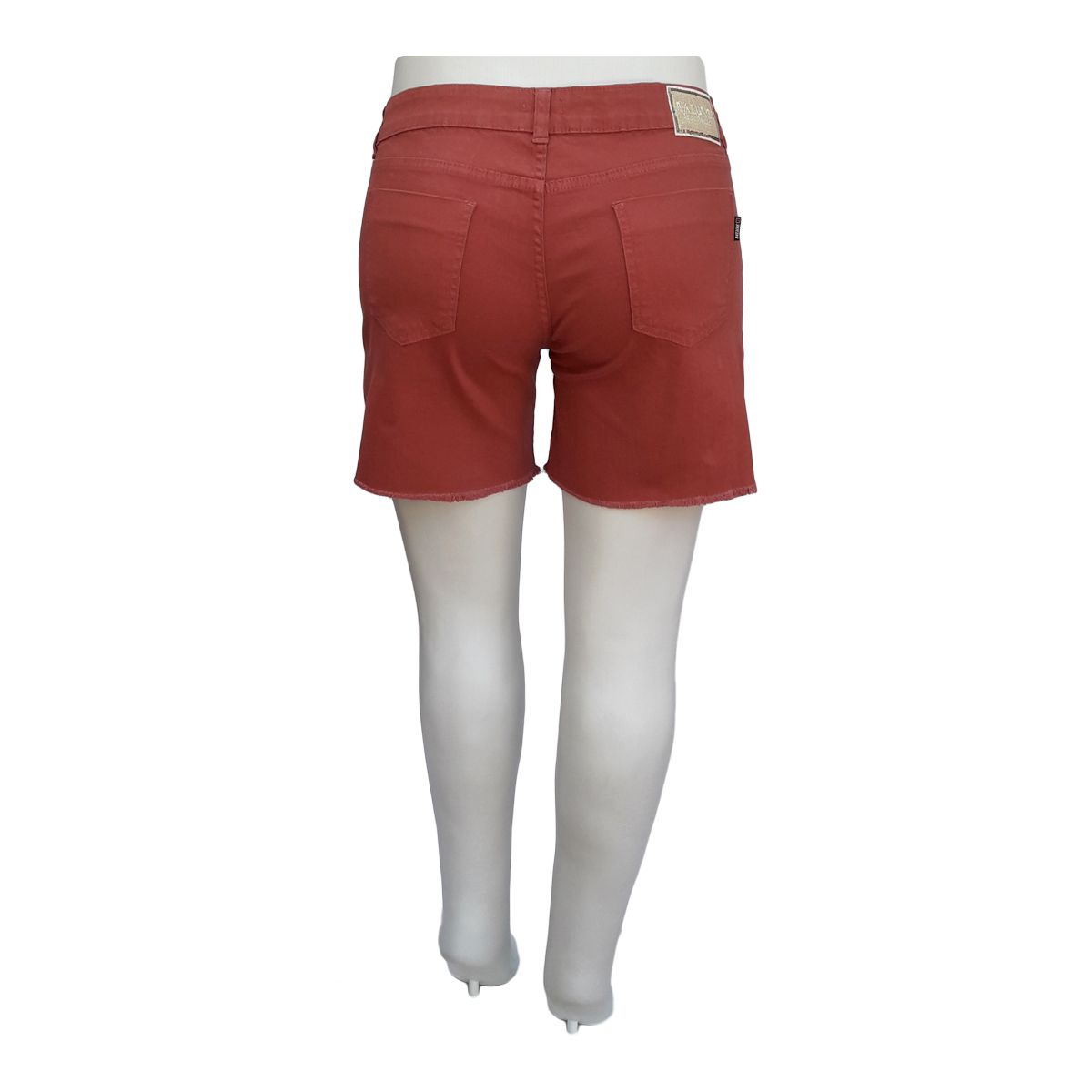 Short Jeans Feminino Color Plus Size Porcelana