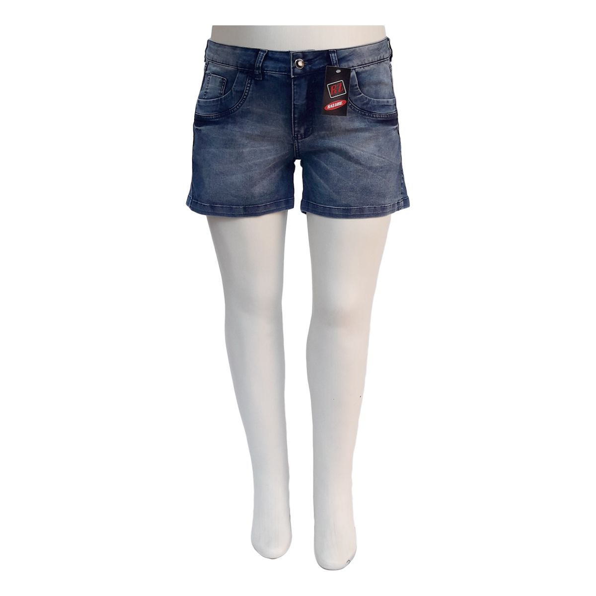 Short Jeans Feminino Com Bigode Plus Size