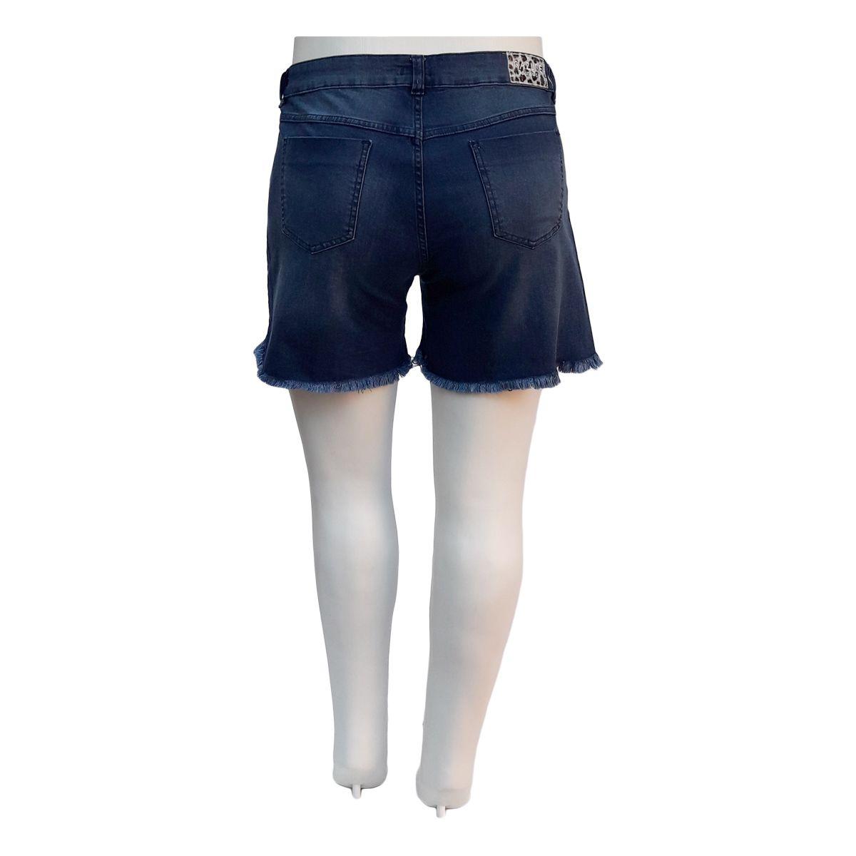 Short Jeans Feminino Mullet Plus Size