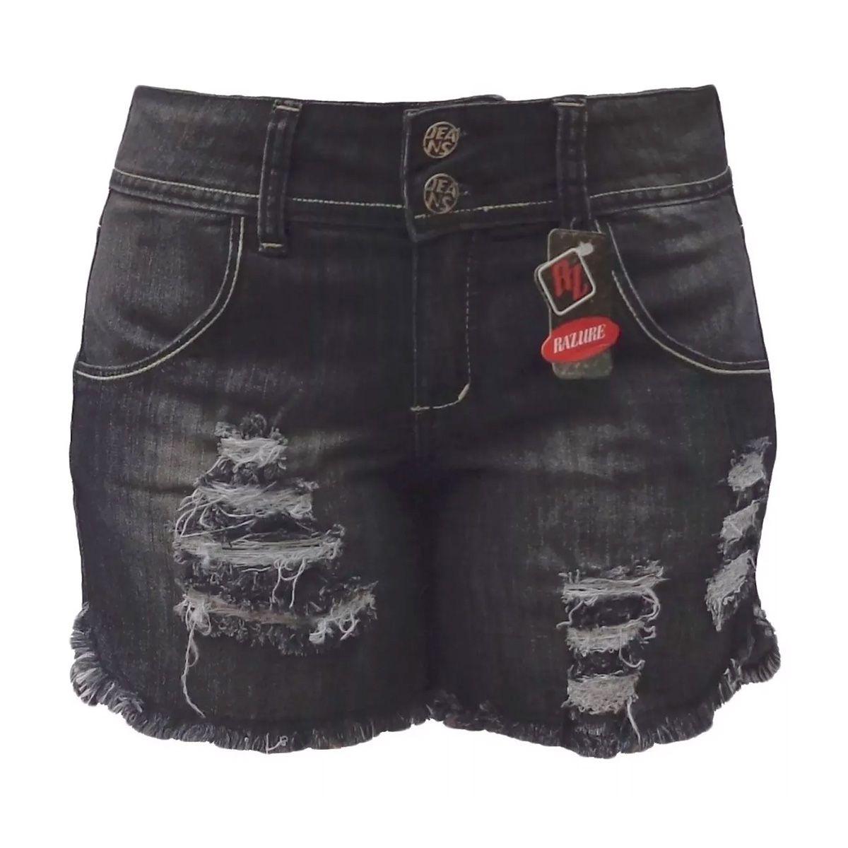 Short Jeans Rasgado Tamanhos 40 E 44