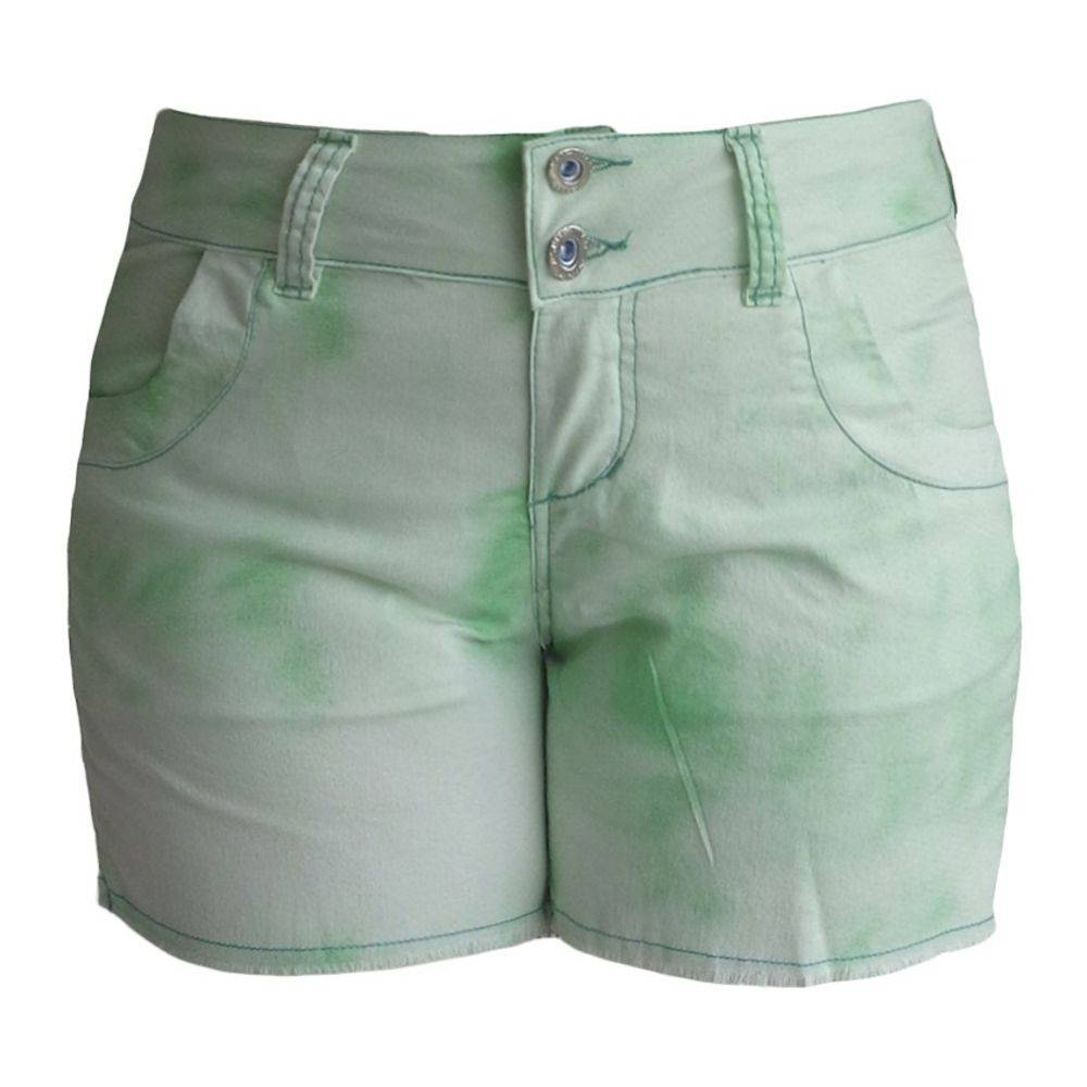 Short Verde Tie Dye Plus Size