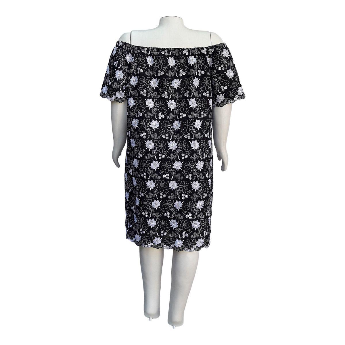 Vestido Cigana Laise Bordada Plus Size Moda Evangélica
