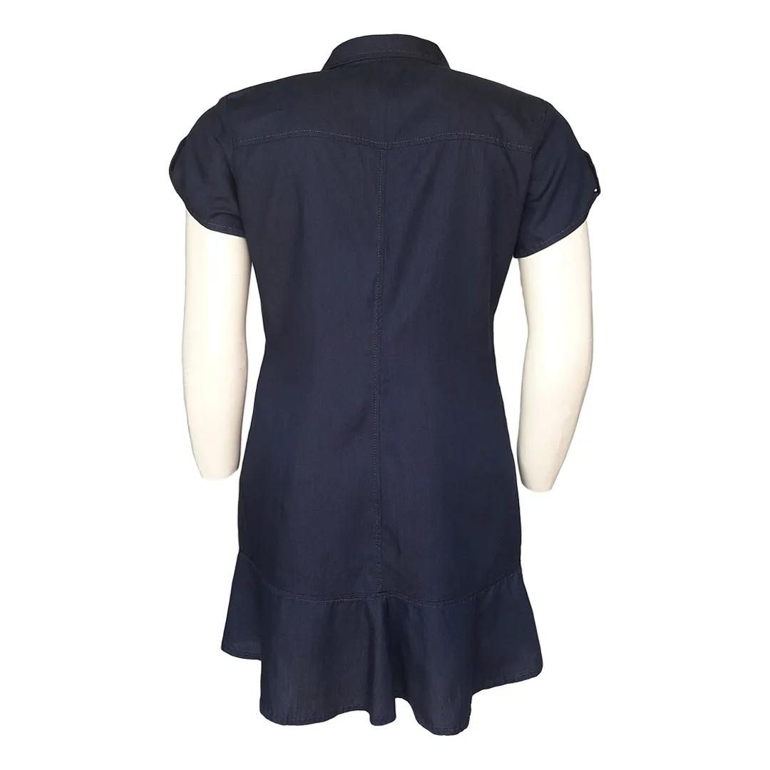 Vestido Jeans Chemisier Moda Evangélica Plus Size