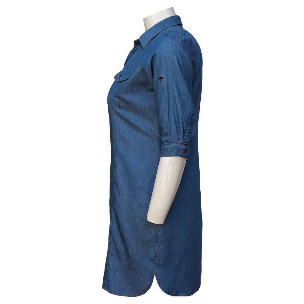 Vestido Jeans Chemisier Plus Size