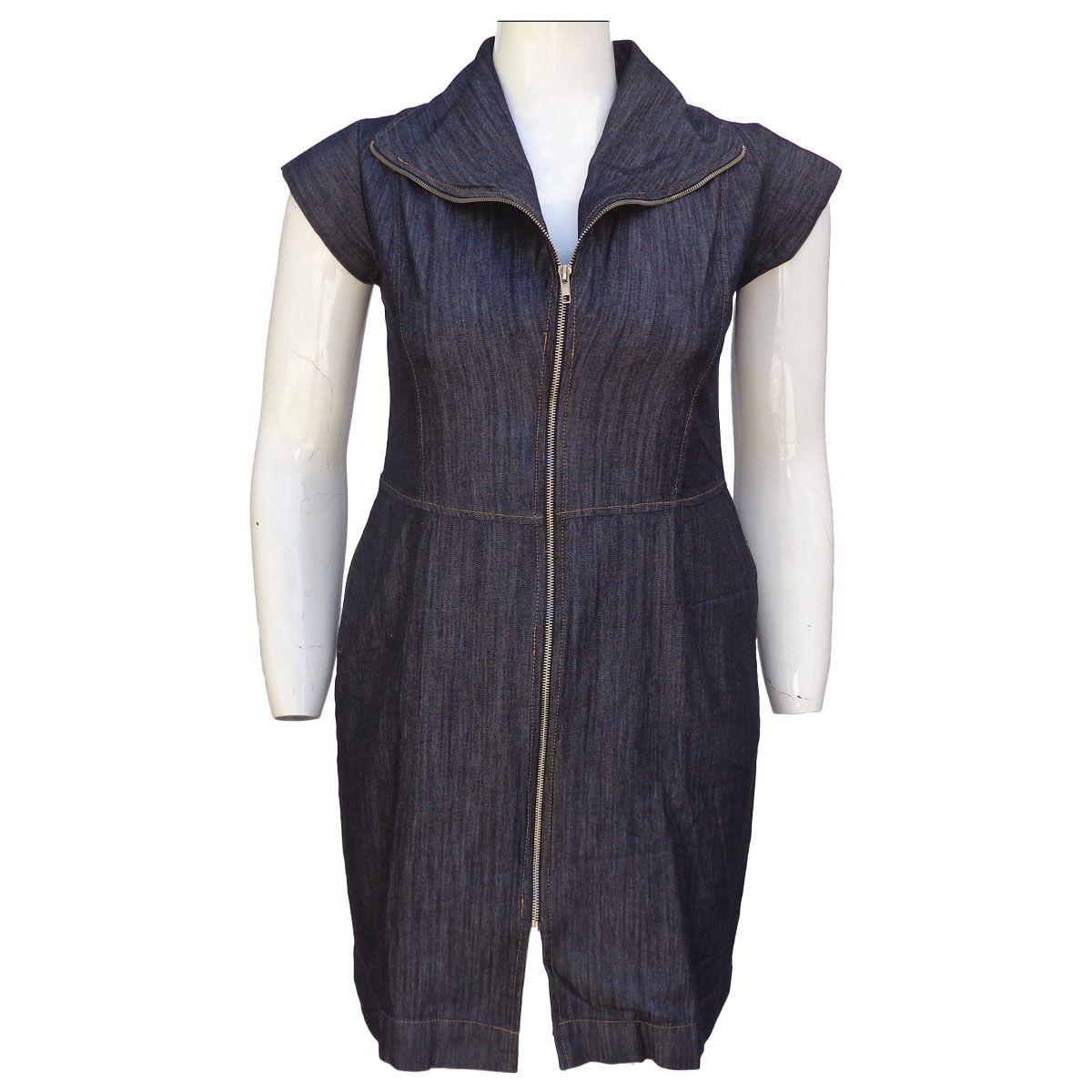 Vestido Jeans Evasê Plus Size Tamanho GG5