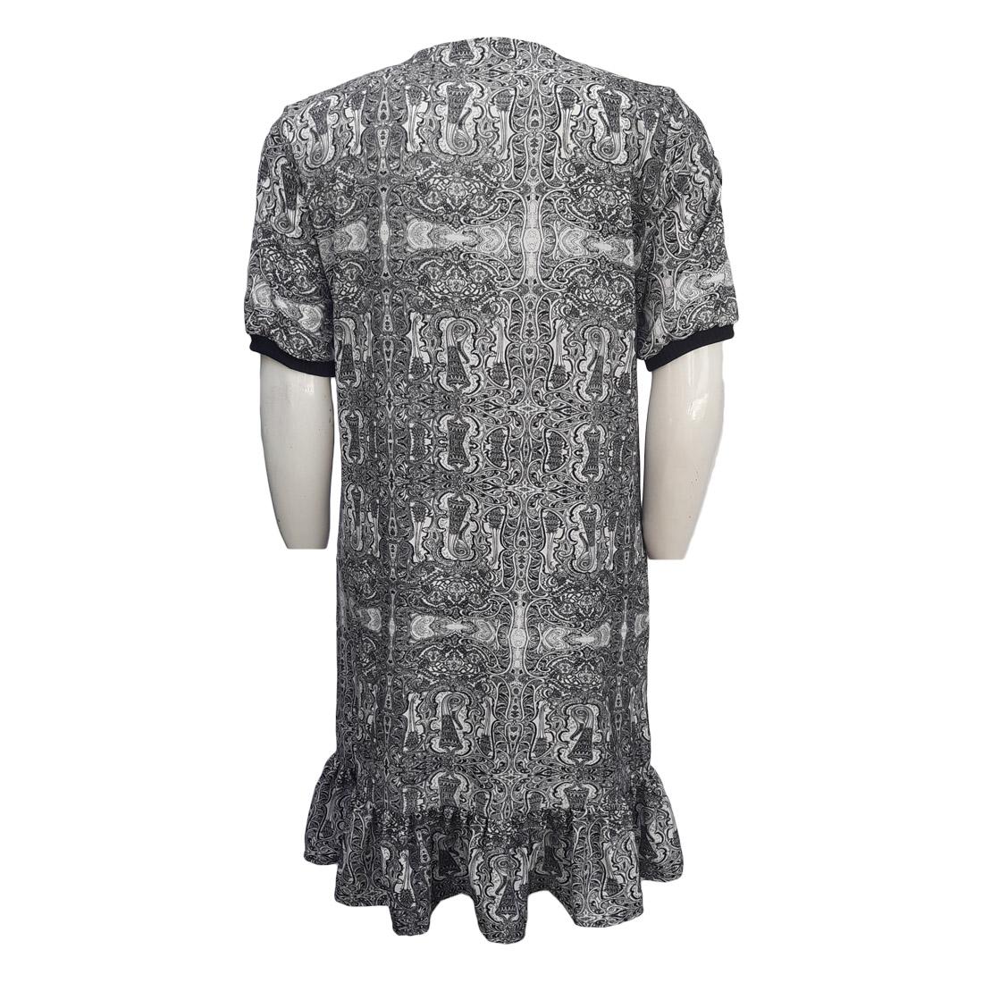 Vestido Midi Estampado Plus Size Moda Evangélica
