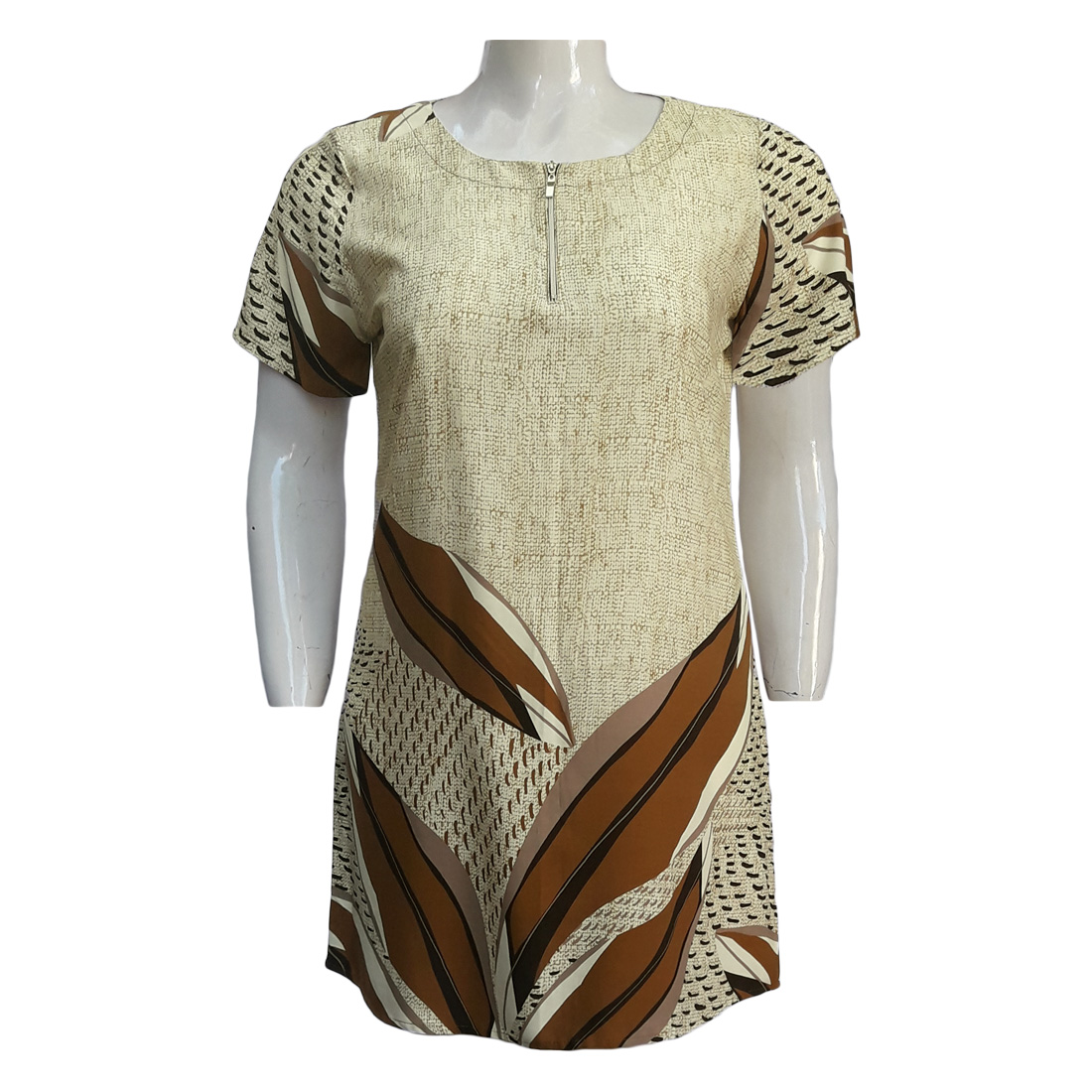 Vestido de Viscose Ref. 40 Moda Evangélica Plus Size