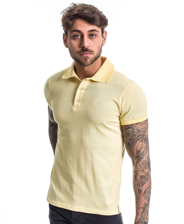 Camisa Polo Reborn Confort Amarela - Tflow