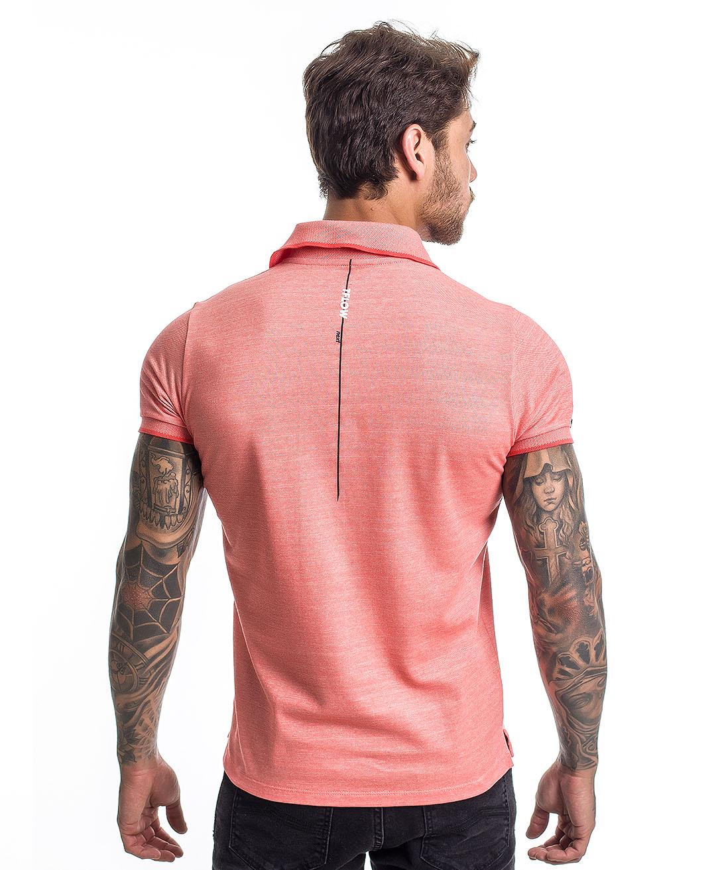 Camisa Polo Reborn Confort Salmão - Tflow